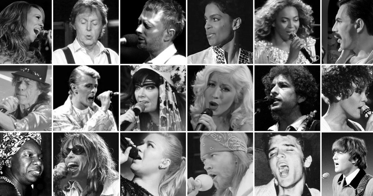 The Vocal Ranges of the Greatest Singers